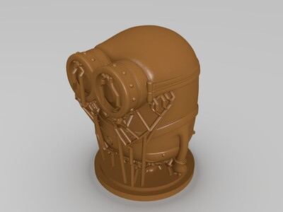 小黄人鲍勃(牛逼得拥有大佬级支撑)-3d打印模型