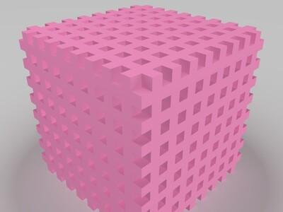 三度艺术魔方-3d打印模型