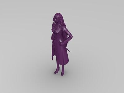 最终幻想十三 女角色-3d打印模型