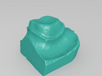 磨牙模型,(非实体)-3d打印模型