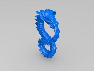 龙吊坠-3d打印模型