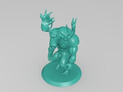 驼鹿-3d打印模型