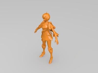 王者荣耀艾琳-3d打印模型