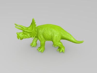 恐龙 三角龙-3d打印模型