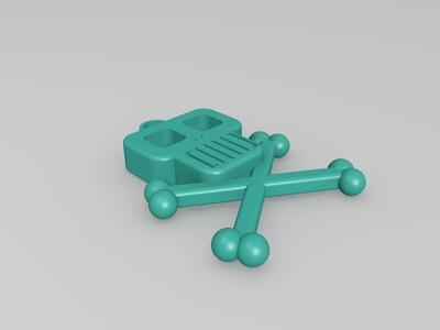 小骷髅挂饰-3d打印模型