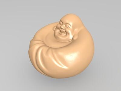 笑佛-圆-3d打印模型