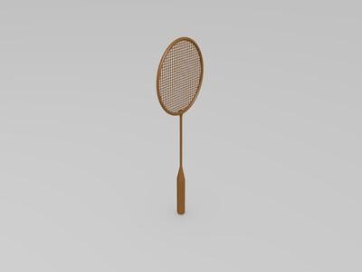 羽毛球拍-3d打印模型