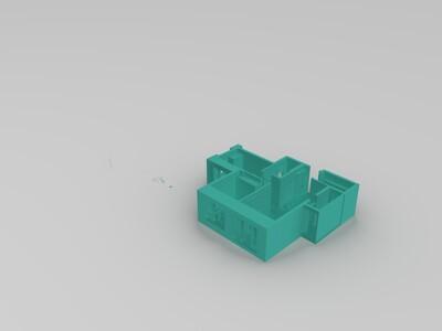 家装户型图1(有贴图,购买发3dmax原文件)-3d打印模型