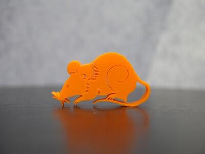 鼠剪纸摆件-3d打印模型