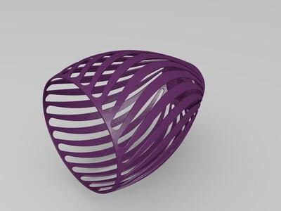 通用灯罩(H=230mm,D=80mm,d=36mm)-3d打印模型