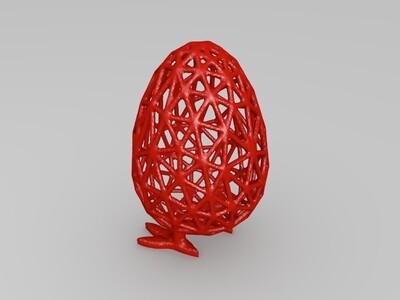 有脚的镂空鸡蛋-3d打印模型