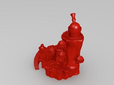 天文台建筑-3d打印模型
