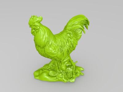 雄鸡庄河大骨鸡-3d打印模型