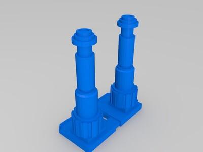 星战军团的x -10涡轮激光发射塔-3d打印模型