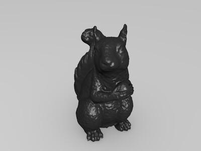 松鼠-3d打印模型