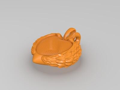 天鹅饰品-3d打印模型
