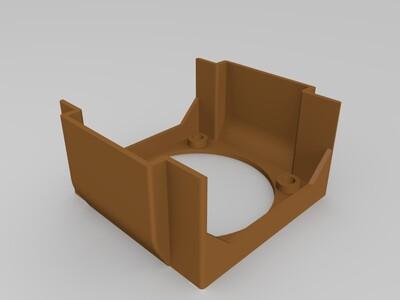 3d打印 42步进电机散热罩-3d打印模型