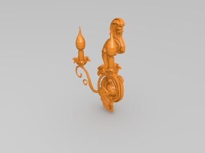 复古创意灯-3d打印模型