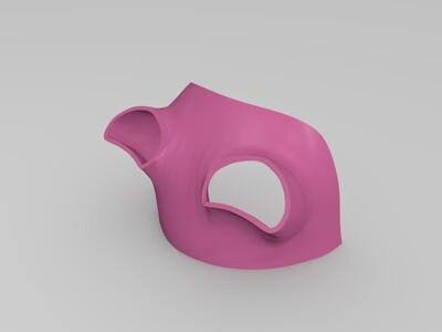 女猎人面具-3d打印模型