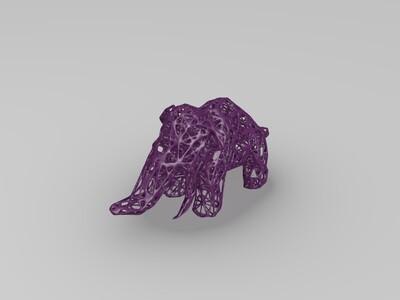 镂空大象-3d打印模型