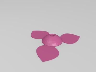 玫瑰花-3d打印模型