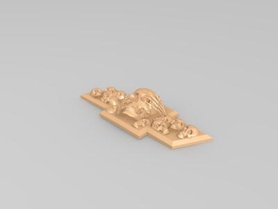 头骨面前领结-3d打印模型