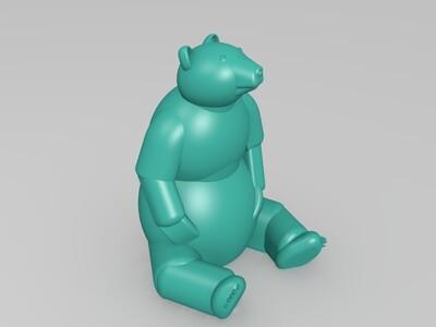 大熊-3d打印模型