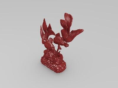 金鱼大型室内摆件-3d打印模型