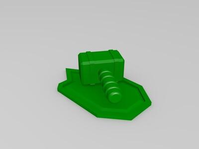 Q版雷神锤 -3d打印模型