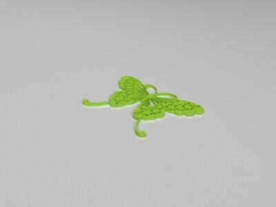 美丽蝴蝶组合-3d打印模型