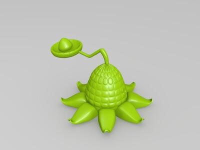 玉米投手-3d打印模型