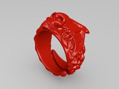 黑环戒指-3d打印模型