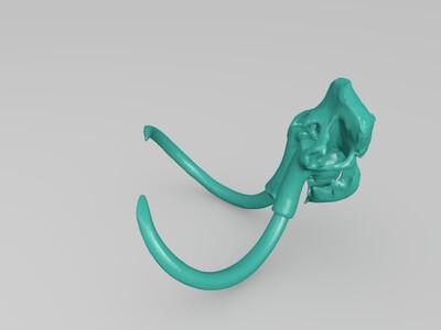 猛犸的头骨-3d打印模型