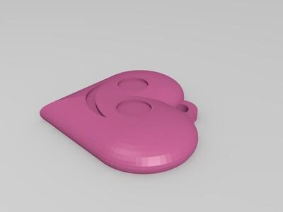 心形挂件-3d打印模型