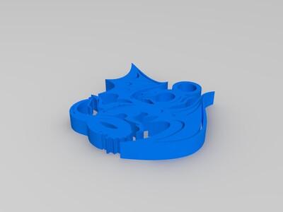 最全龙吊坠-3d打印模型