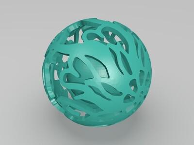镂空球里的小球5-3d打印模型