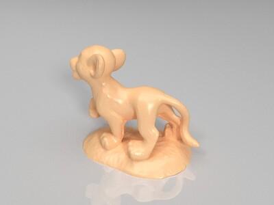 狮子王-辛巴-3d打印模型