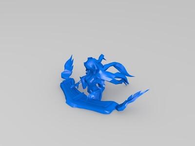 琴瑟仙女半身模型-3d打印模型