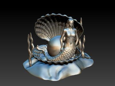 美人鱼-3d打印模型