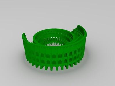 古罗马斗牛场-3d打印模型