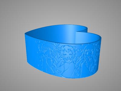 爱心浮雕-3d打印模型