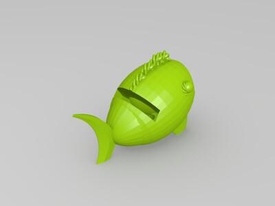鱼形手机支架(扩音)-3d打印模型