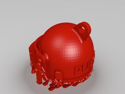 全网最良心绝地求生吃鸡三级头模型挂件(加好树状支撑)-3d打印模型