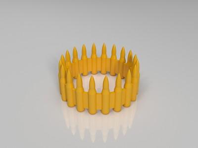子弹戒指-3d打印模型
