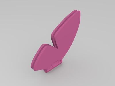 可爱的蝴蝶装饰-3d打印模型