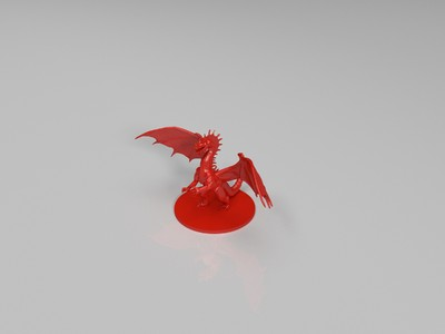 凶恶的龙stl-3d打印模型