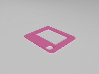 lcd12864屏幕外壳-3d打印模型