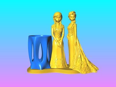 你是我的姐妹-筆筒-3d打印模型