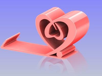情人手機支架 2-3d打印模型