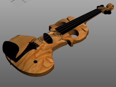 人像吉他-3d打印模型
